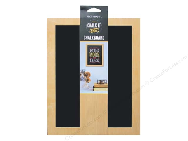 K&Company Chalk It Now Chalkboard Wooden Frame Black