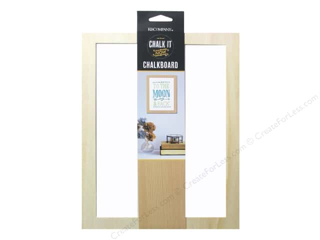 K&Company Chalk It Now Chalkboard Wooden Frame White