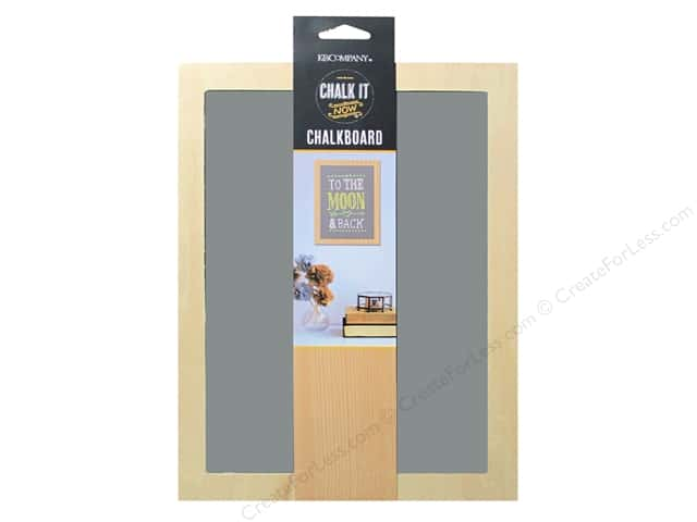 K&Company Chalk It Now Chalkboard Wooden Frame Grey