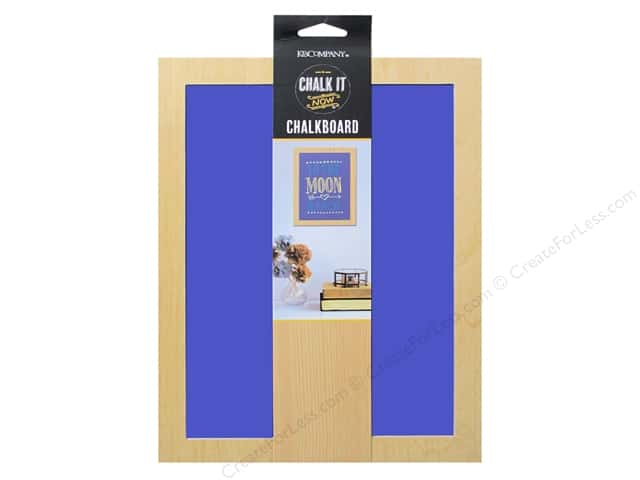 K&Company Chalk It Now Chalkboard Wooden Frame Cobalt