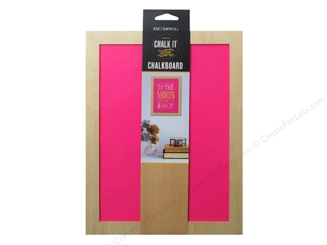 K&Company Chalk It Now Chalkboard Wooden Frame Hot Pink