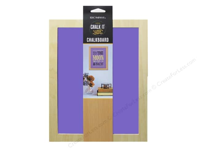 K&Company Chalk It Now Chalkboard Wooden Frame Purple