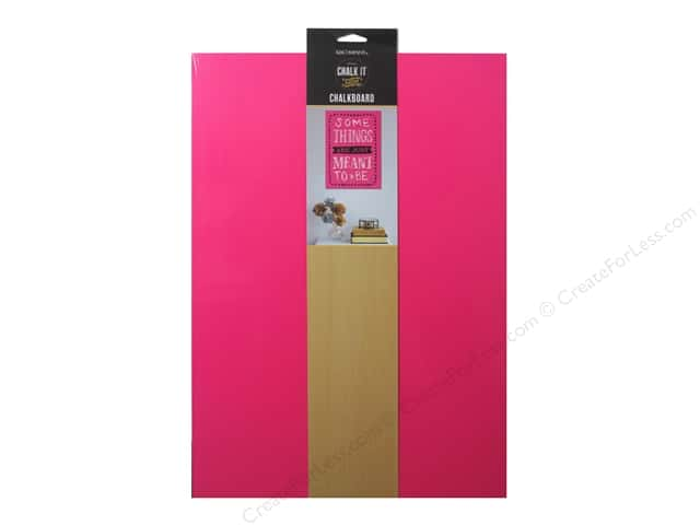 "K&Company Chalk It Now Chalkboard Traditional 10.5""x 16"" Hot Pink"
