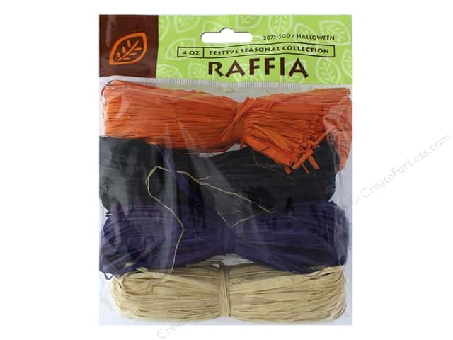 JMS Raffia Halloween Collection 4 Color Total 4oz