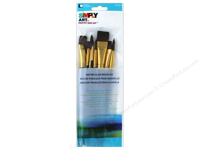 Loew Cornell Simply Art Brush Set Watercolor 10pc