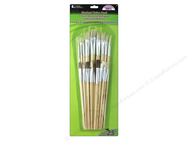 Loew Cornell Brush Set Student Value Pack 25 pc