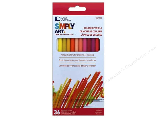 Loew Cornell Simply Art Colored Pencils 36pc