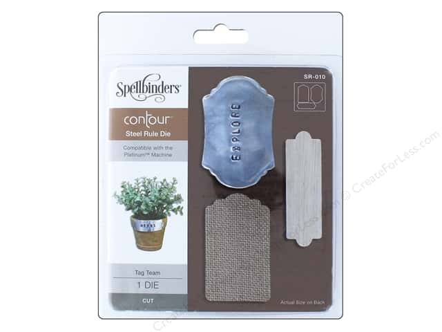 Spellbinders Contour Steel Rule Die Tag Team