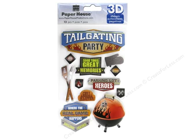 Paper House Sticker 3D Tailgating Party