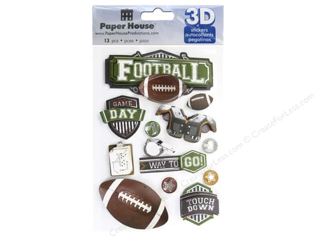 Paper House Sticker 3D Football II