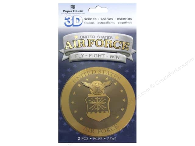 Paper House Sticker 3D Air Force Emblem