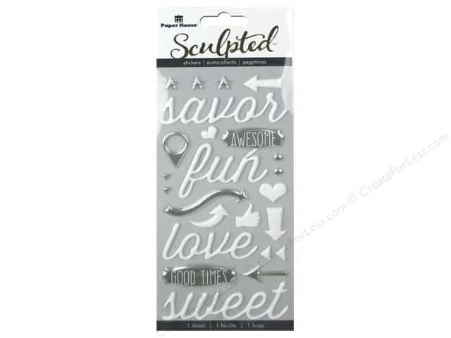 Paper House Sticker Sculpted Puffy Savor