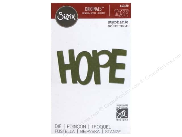 Sizzix Originals Dies Phrase Hope by Stephanie Ackerman