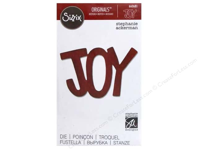 Sizzix Originals Dies Phrase Joy #3 by Stephanie Ackerman