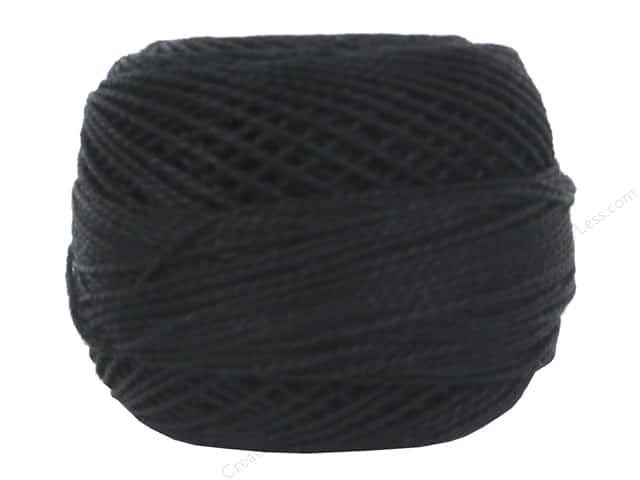 DMC Pearl Cotton Ball Size 8 Black (10 balls)