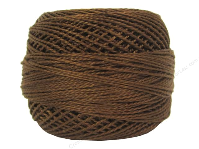 DMC Pearl Cotton Ball Size 8 #433 Medium Brown (10 balls)