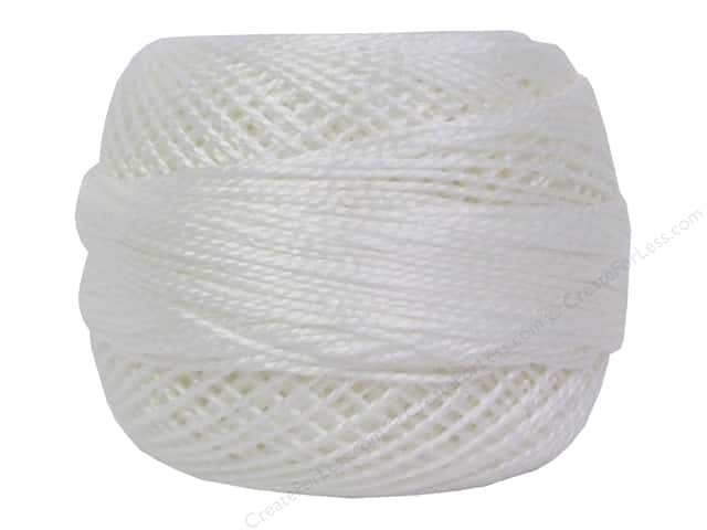 DMC Pearl Cotton Ball Size 8 White (10 balls)