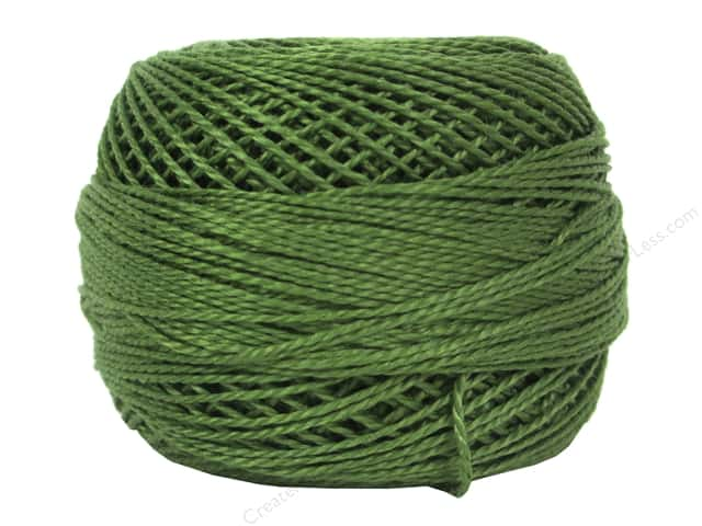 DMC Pearl Cotton Ball Size 8 #3346 Hunter Green (10 balls)
