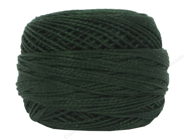 DMC Pearl Cotton Ball Size 8 #890 Ultra Dark Pistachio Green (10 balls)