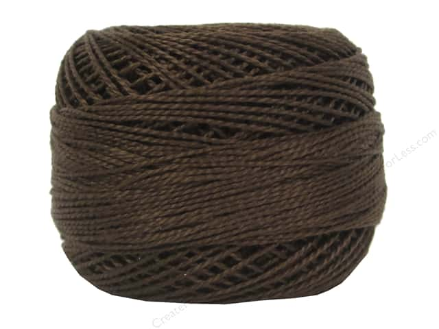 DMC Pearl Cotton Ball Size 8 #898 Very Dark Coffee Brown (10 balls)