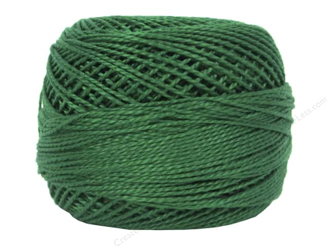 DMC Pearl Cotton Ball Size 8 #909 Very Dark Emerald Green (10 balls)