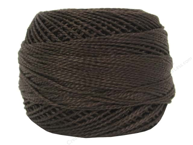 DMC Pearl Cotton Ball Size 8 #938 Ultra Dark Coffee Brown (10 balls)