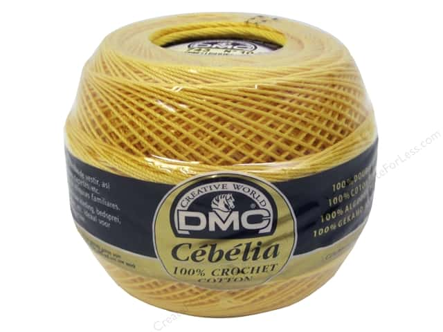 DMC Cebelia Crochet Cotton Size 10 #743 Medium Yellow