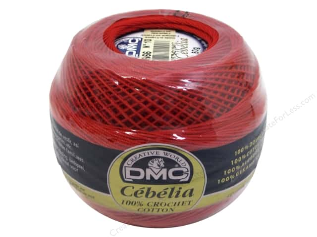 DMC Cebelia Crochet Cotton Size 10 #666 Bright Red