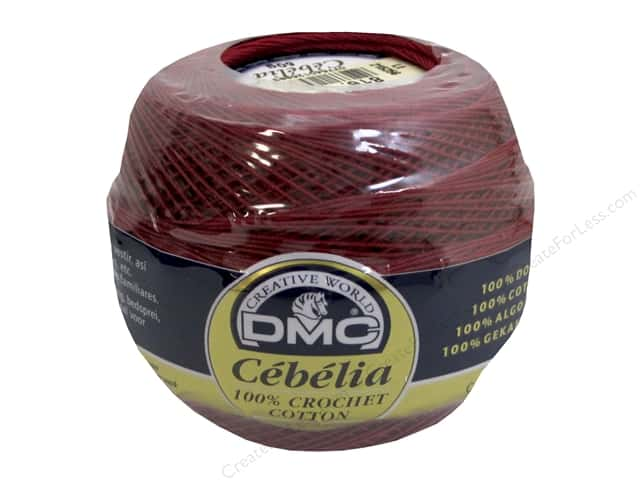 DMC Cebelia Crochet Cotton Size 30 #816 Garnet