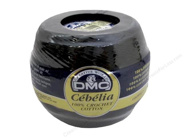 DMC Cebelia Crochet Cotton Size 30 #310 Black