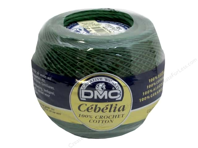 DMC Cebelia Crochet Cotton Size 20 #699 Christmas Green