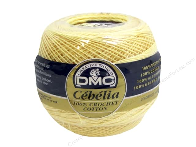 DMC Cebelia Crochet Cotton Size 20 #745 Banana Yellow