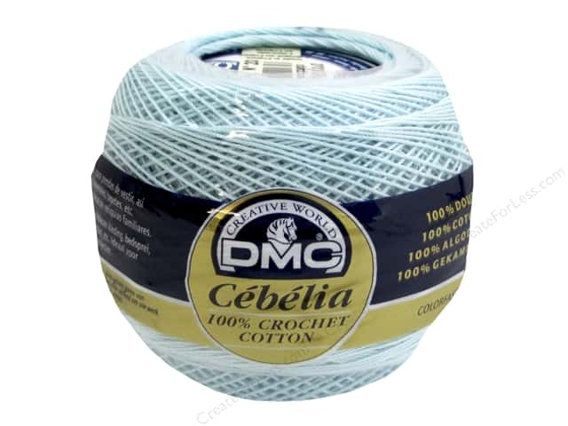 DMC Cebelia Crochet Cotton Size 20 #747 Sea Mist Blue