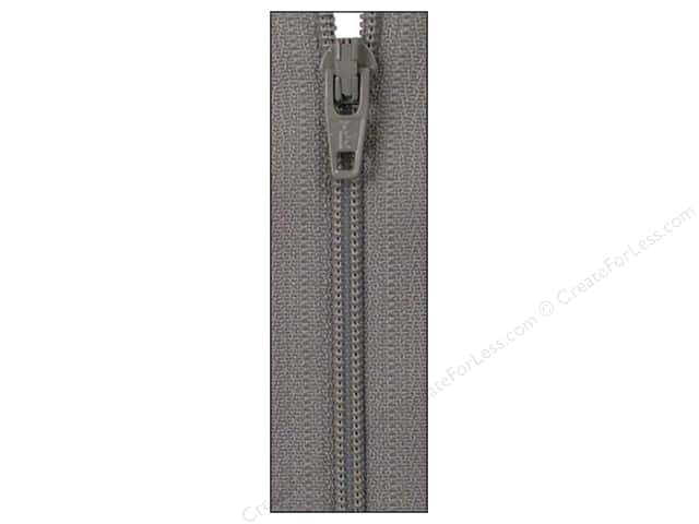 Atkinson Designs Zipper by YKK 22 in. Grey Kitty