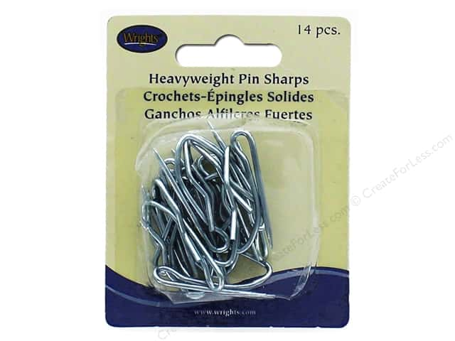 "Wrights Drapery Hooks Pin-On 1.25"" 14pc"