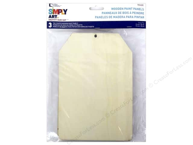 Loew Cornell Simply Art Paint Panel Wooden Tag 3pc