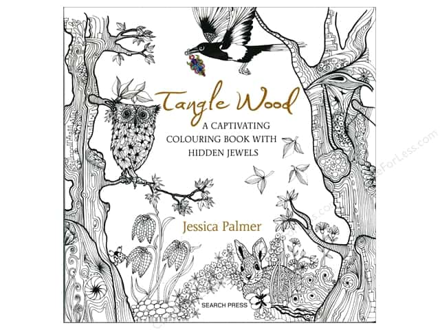 Search Press Tangle Wood Coloring Book