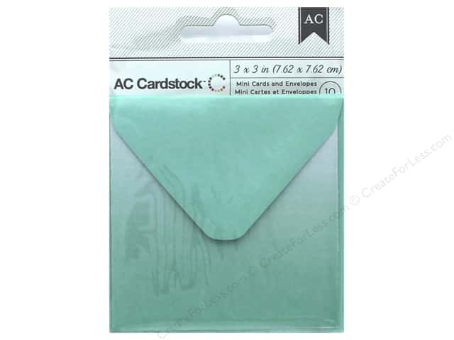 American Crafts Cards & Envelopes 10 pc. Mini 3 x 3 in. Mint