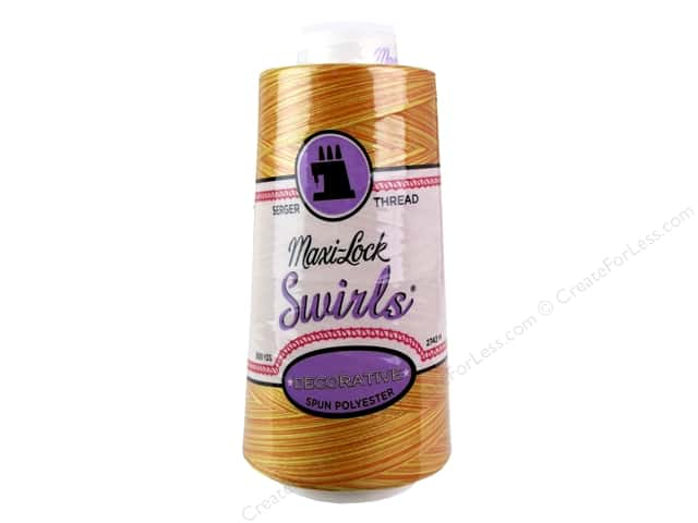 Maxi-Lock Swirls Serger Thread 3000 yd. #M61 Peachy Orange Parfait
