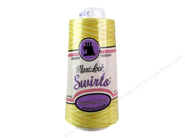 Maxi-Lock Swirls Serger Thread 3000 yd. #M50 Lemon Chiffon
