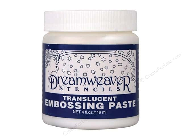 Dreamweaver Stencil Embossing Paste 4oz Translucent