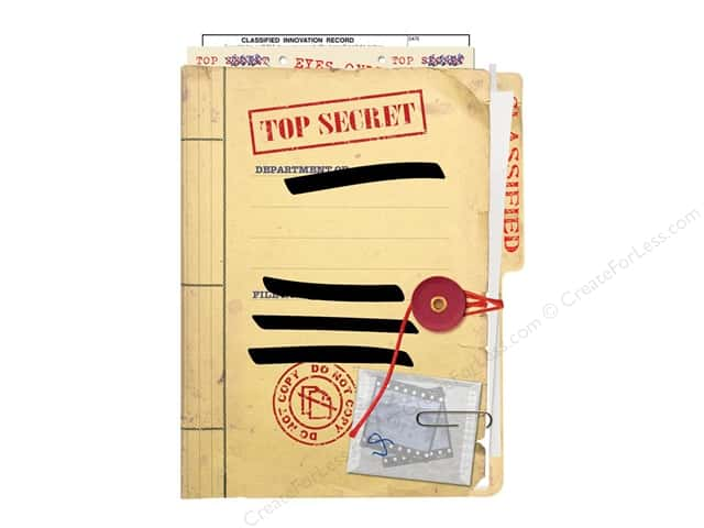 Paper House Diecut Blank Card Top Secret