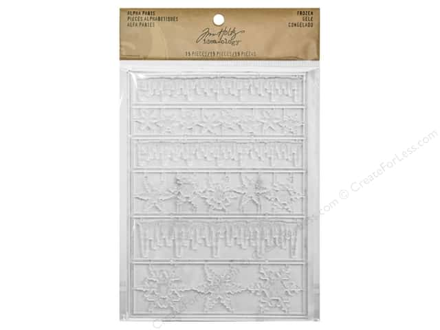 Tim Holtz Idea-ology Alpha Parts Frozen