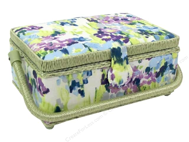 St Jane Sewing Baskets Small Rectangle Floral