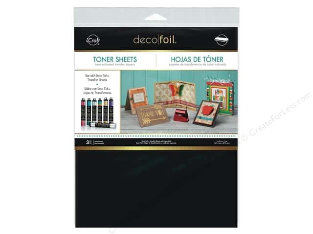 iCraft Deco Foil Toner Sheet 8 1/2 x 11 in. 3 pc.
