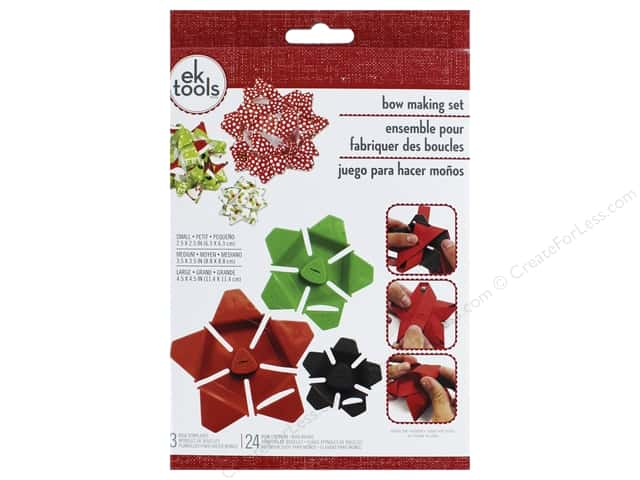 EK Tool Holiday Star Bow Making Set