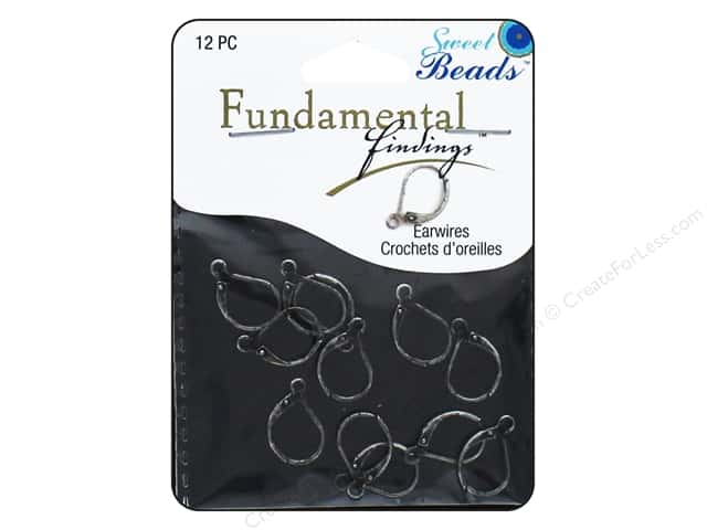 Sweet Beads Fundamental Finding Leaver Back Earring Finding 12 pc. Antique Silver