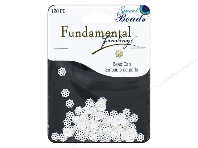 Sweet Beads Fundamental Finding Cap 6 mm Filigree Silver 120pc