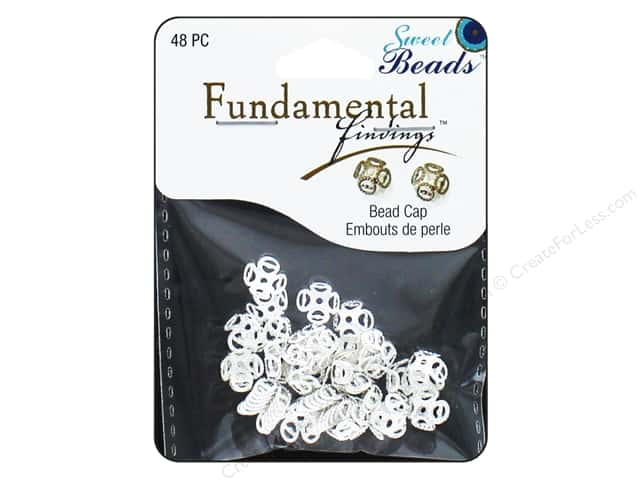 Sweet Beads Fundamental Finding Cap 8 mm Filigree Silver 48pc