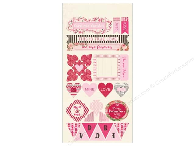 Authentique Die Cuts Adore Components (12 sets)